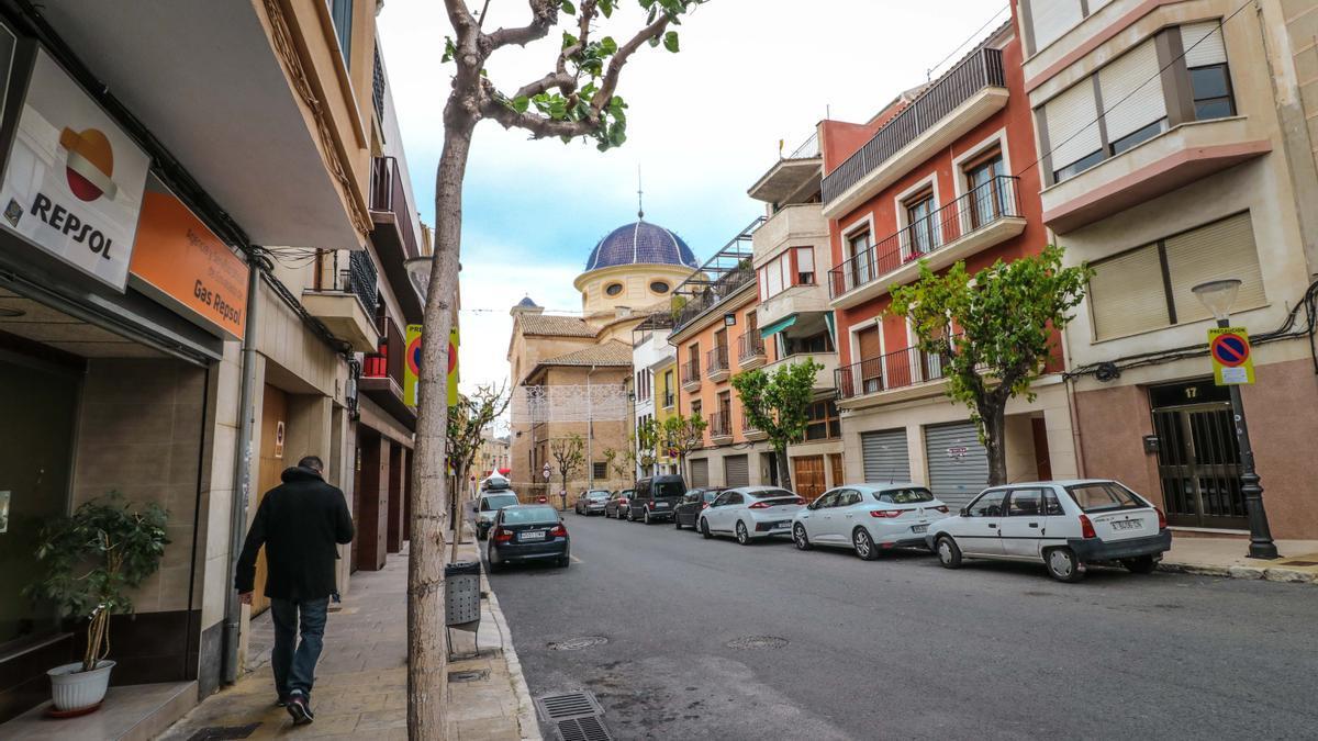 Imagen de archivo del centro urbano de Ibi.