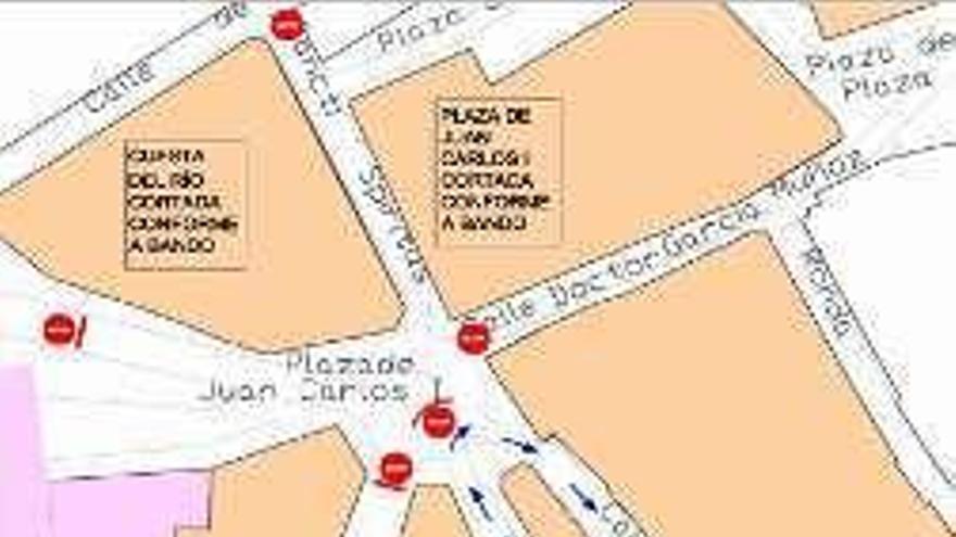 Benavente   Entra en vigor la peatonalización temporal de la plaza Juan Carlos I y su entorno