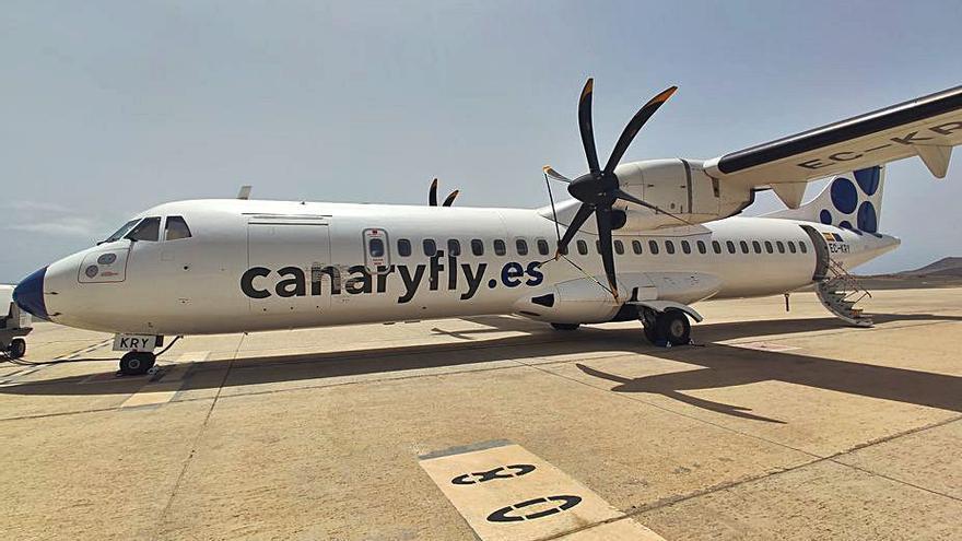 Canaryfly adquiere un nuevo avión de carga  para cubrir las nuevas necesidades de mercado