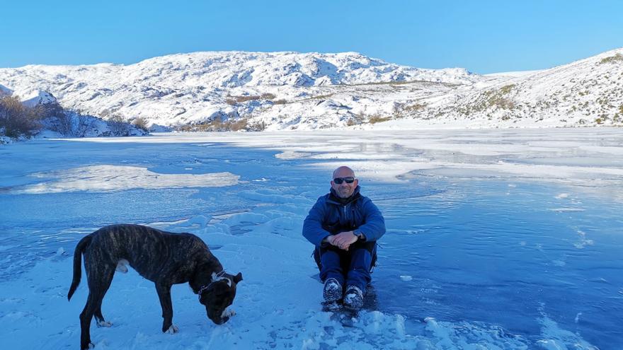 Filomena congela el río Tera