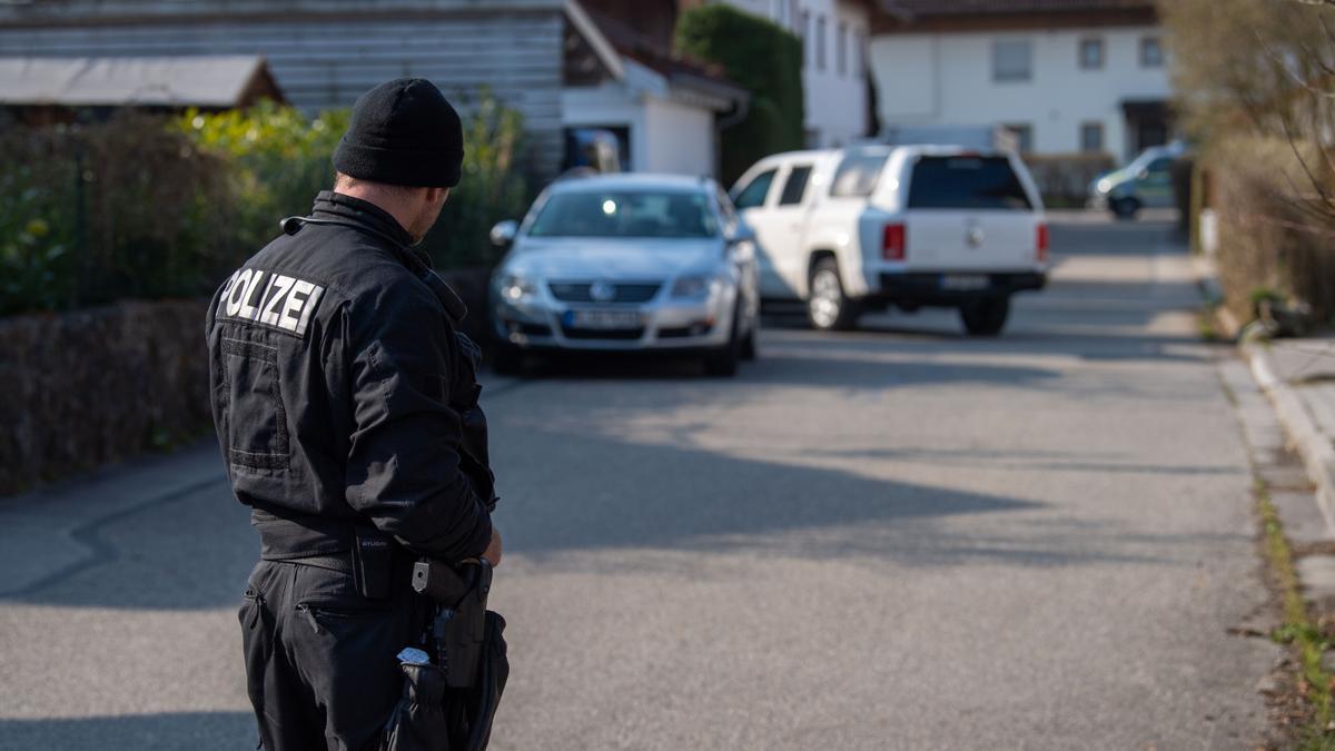 Policía en Baviera, Alemania.