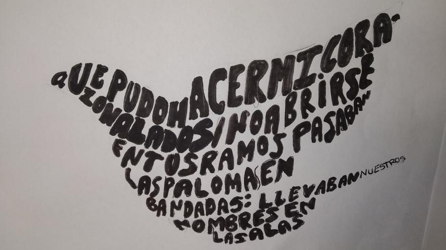 Los caligramas realizados por estudiantes del IES La Azucarera en su concurso escolar