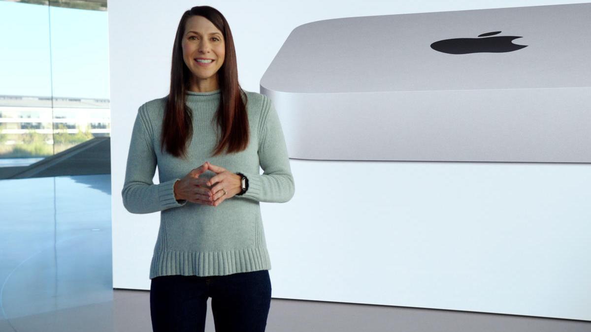 Laura Metz de Apple presenta el nuevo MacBook Air con un chip M1