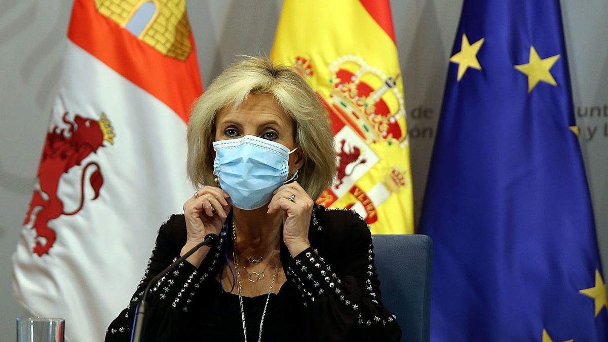 La consejera de Sanidad, Verónica Casado, comparece en rueda de prensa telemática.