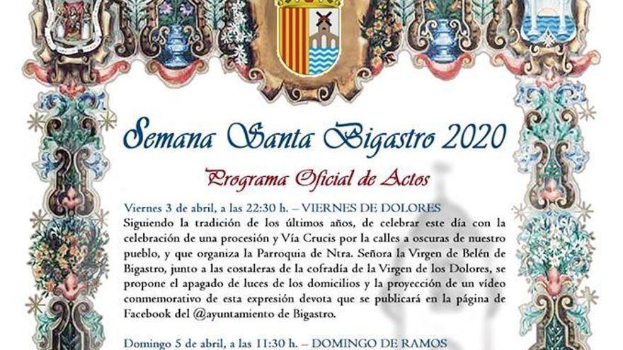 Bigastro anima a decorar con estandartes y ramas de olivo los balcones para el Domingo de Ramos