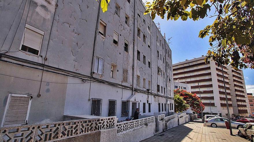 Aparcamiento provisional tras la demolición de La Candelaria