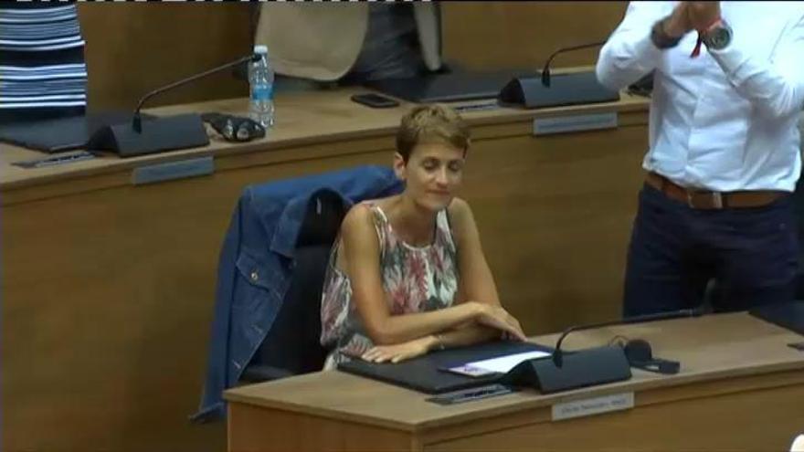 Chivite, presidenta de Navarra tras la abstención de Bildu