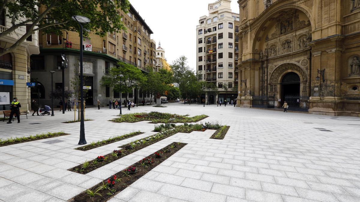 La plaza Santa Engracia de Zaragoza.
