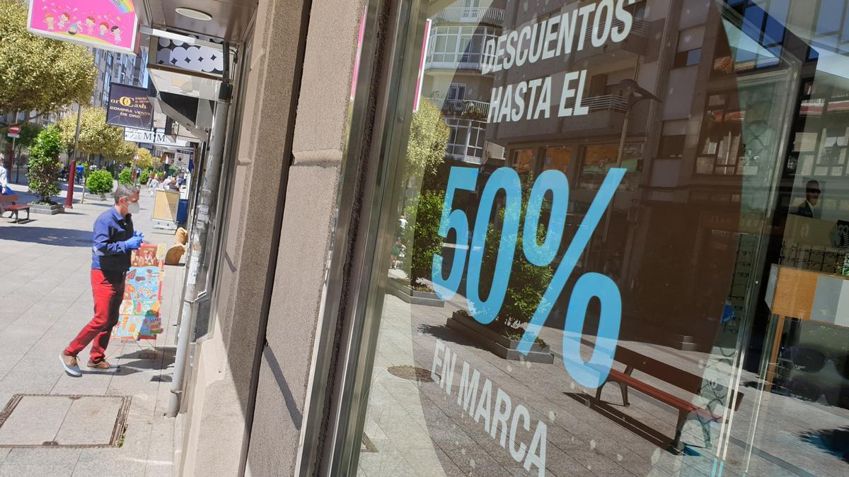 Descuentos en un comercio gallego.