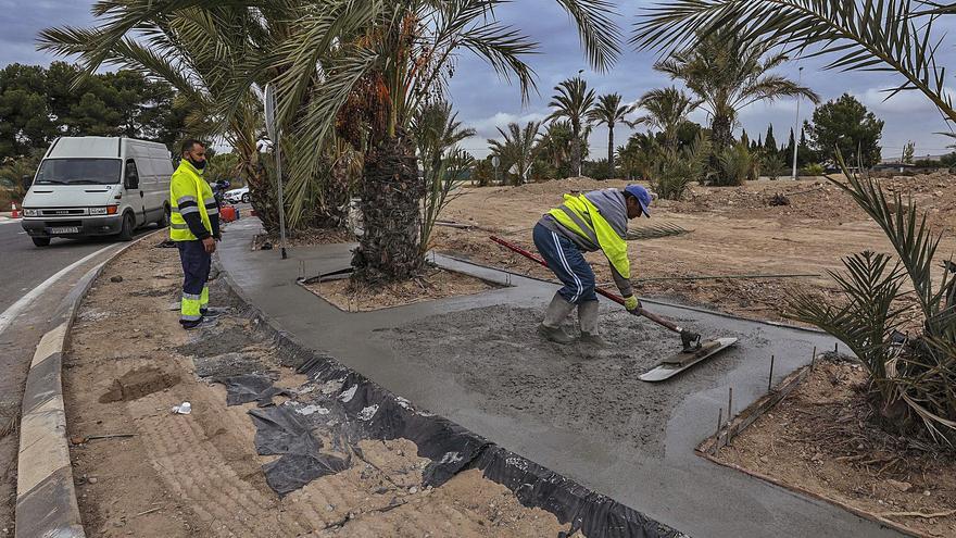 El nuevo acceso norte a Elche trae más hormigón y menos palmeras