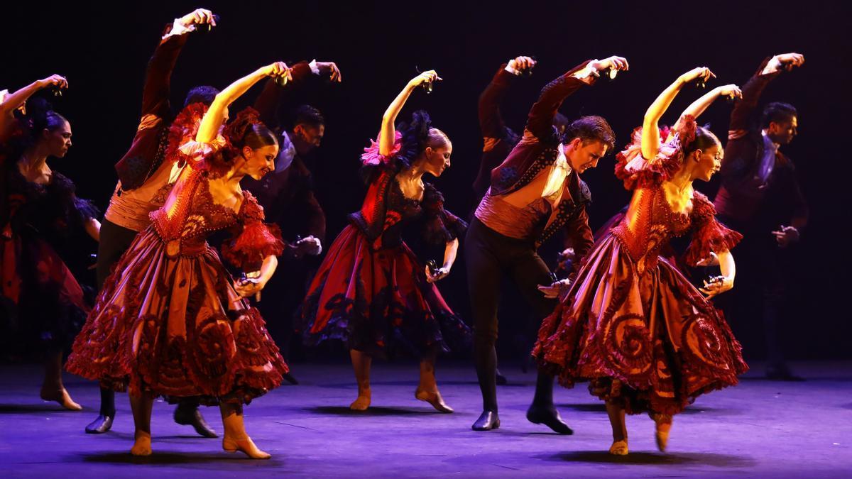 El Ballet Nacional de España interpretó su programa titulado 'Invocación'.