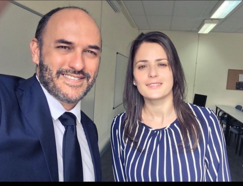Los profesores de Derecho Romano de la ULPGC, José Luis Zamora y Tewise Yurena Ortega
