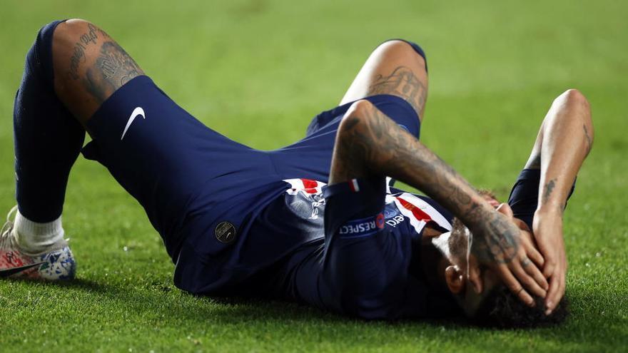 Las lágrimas de Neymar, imagen de la derrota del PSG
