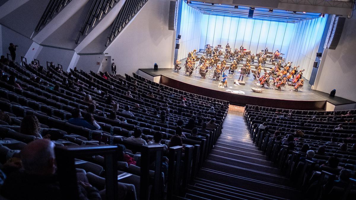 Un concierto anterior en el Auditorio de Tenerife.
