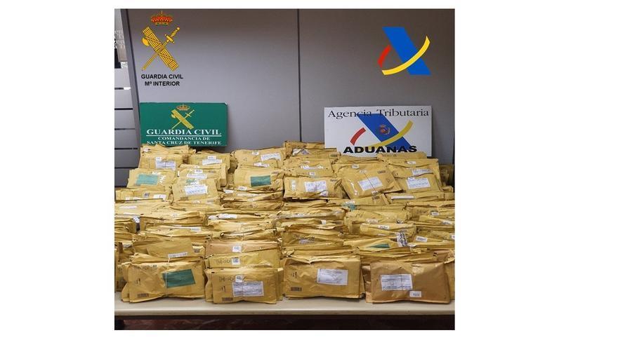 Desarticulan una red que distribuía marihuana desde Tenerife a través de paquetes postales