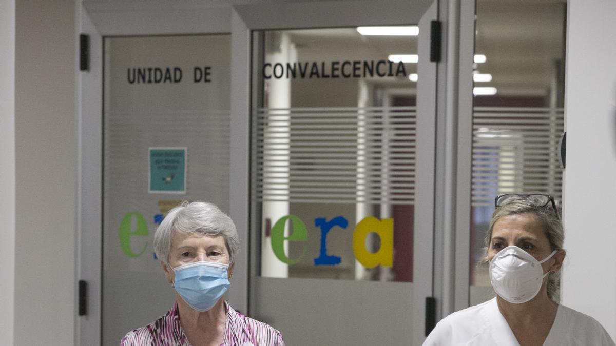 Alegría Martínez, otra de las ancianas que participó en la primera jornada de repetición.