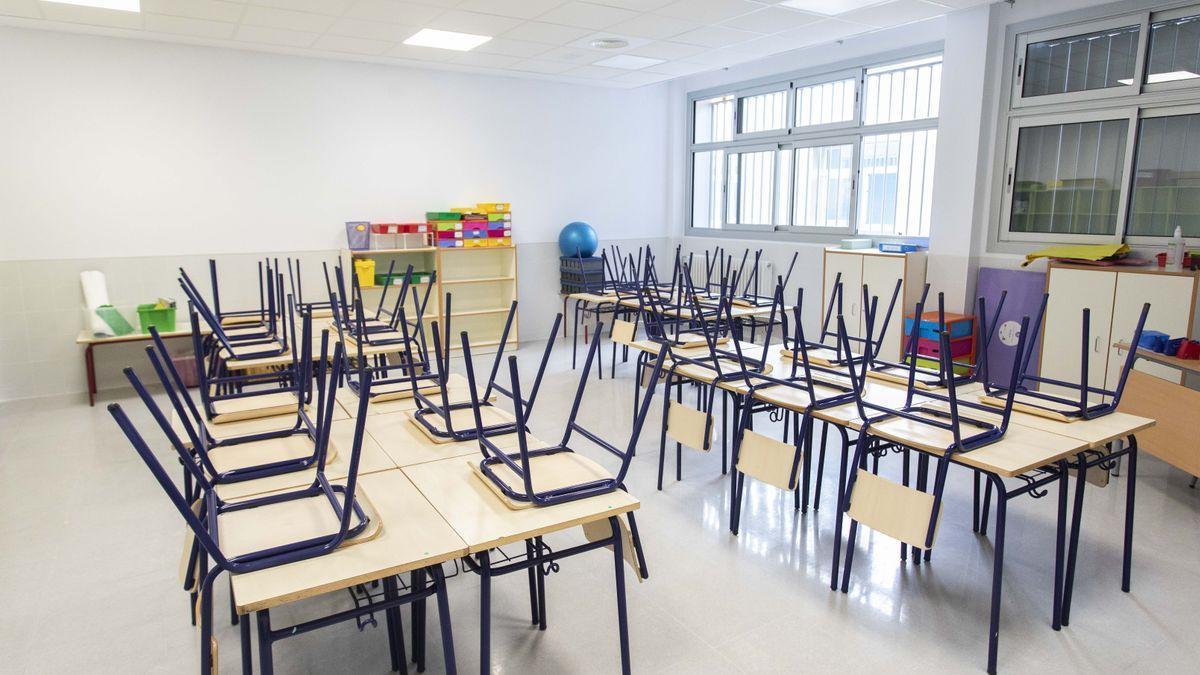 Aula de un colegio de la Comunidad Valenciana.