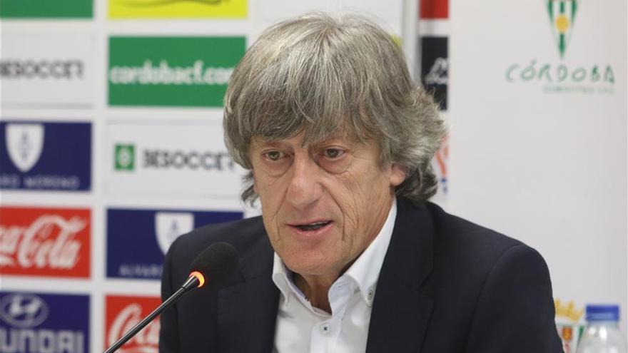 Enrique Martín, técnico del Córdoba CF, comparece hoy