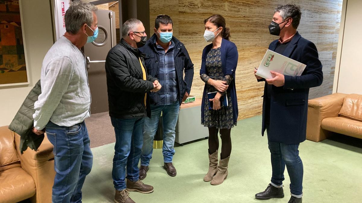 Responsables de Coag en la reunión mantenida con Clara San Damián