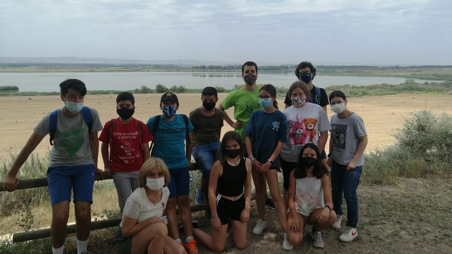 Excursión a la Laguna de Sariñena de un grupo de alumnos del IES Monegros-Gaspar Lax