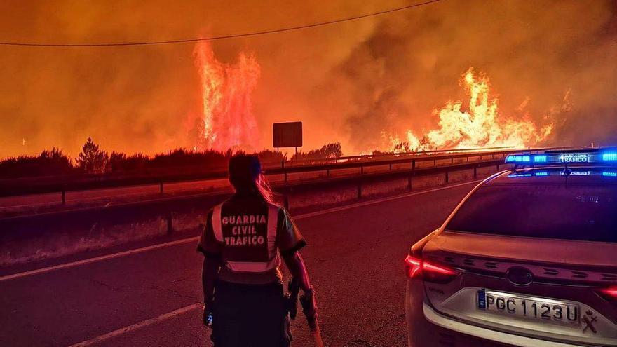 Nueve incendios calcinan 2.200 hectáreas de superficie en la provincia de Ourense