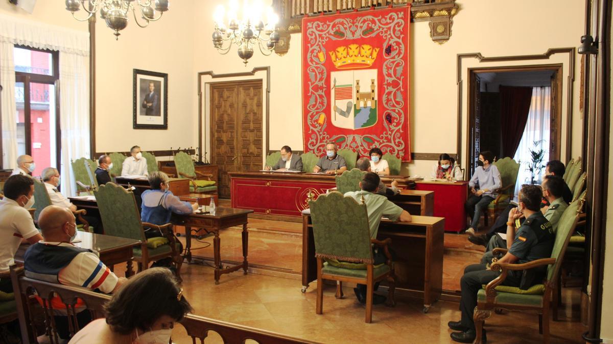 Junta Local de Seguridad celebrada en el Ayuntamiento de Zamora.