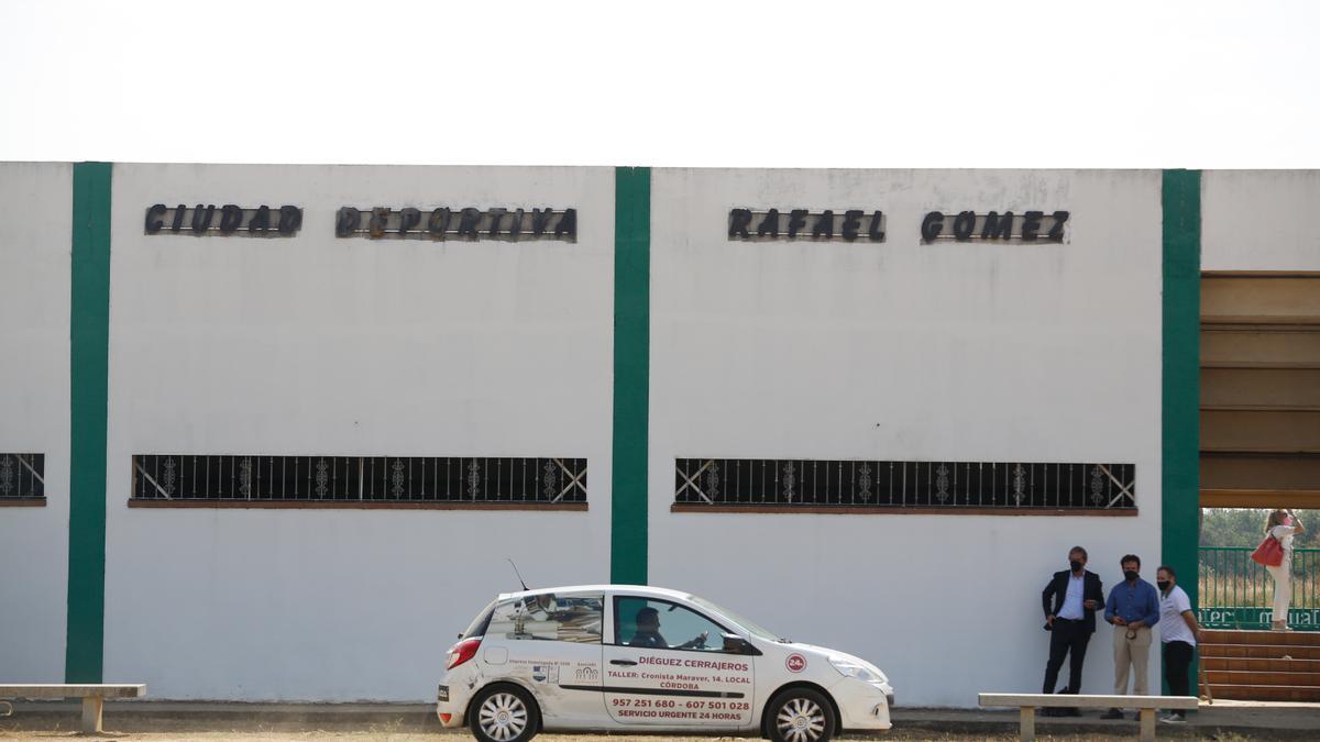 El cerrajero, en la Ciudad Deportiva, el pasado 16 de junio, fecha en la que se ejecutó el lanzamiento a petición de Grupo Tremon.