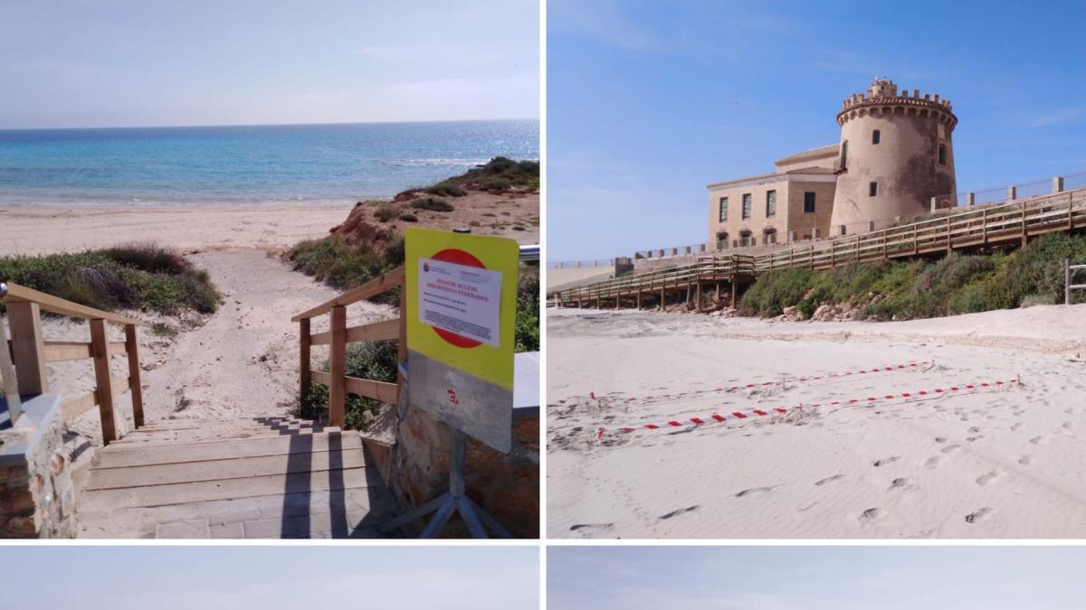 Pilar de la Horadada descarta abrir las playas para pasear y habilita accesos al mar para deportistas