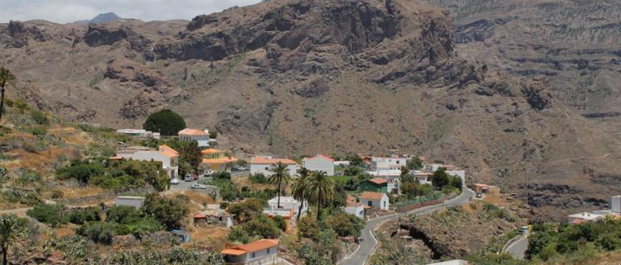 Pueblo de Barranquillo Andrés y Soria, en la zona alta de Mogán.     LP/DLP
