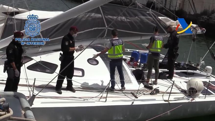 Interceptado en el Atlántico un velero de competición con una tonelada de cocaína