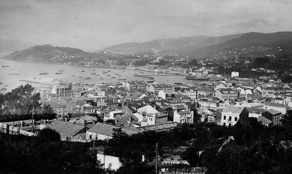 Vista panorámica de Vigo 1920 -1936