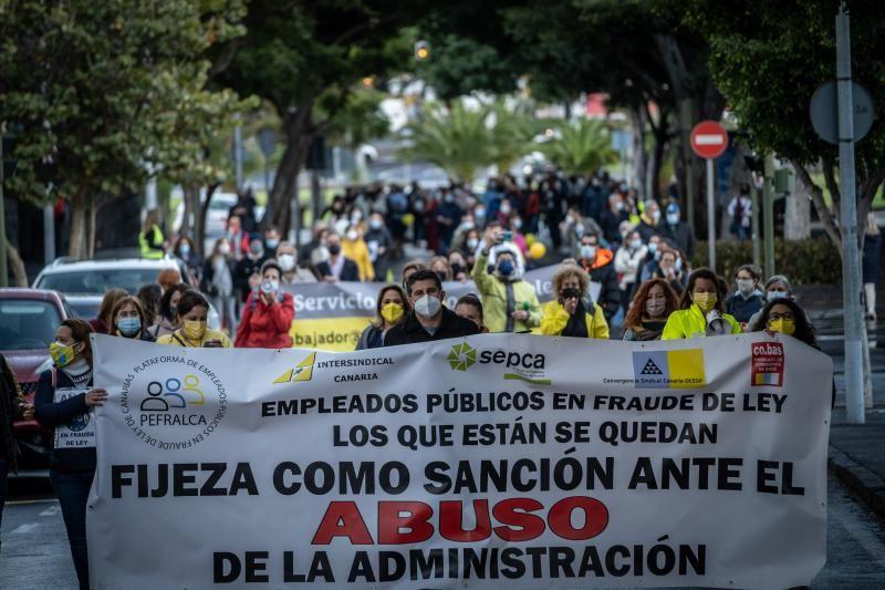 Manifestación de empleados públicos en Santa Cruz de Tenerife