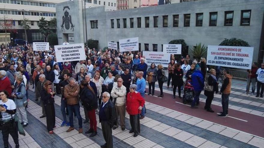 Manifestación de la Plataforma de Afectados por La Ley Turística