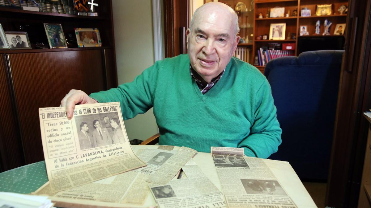 El dirigente y cronista deportivo Alfonso Posada.