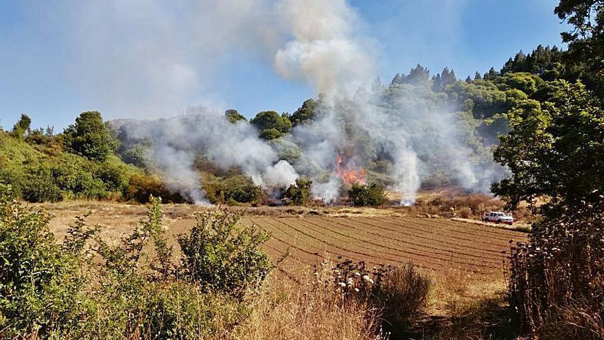 El uso de una desbrozadora provocó el conato de incendio en Valleseco
