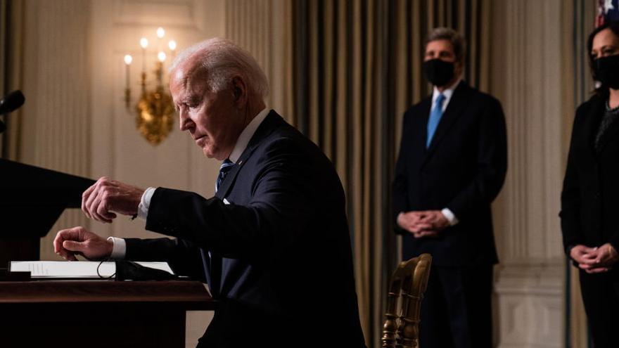 """La frenética semana de Biden para a """"remodelar"""" EEUU"""