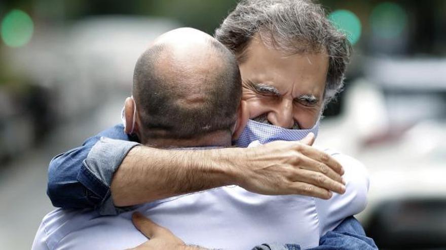 Los presos del 1-O salen de prisión por primera vez tras lograr la semilibertad
