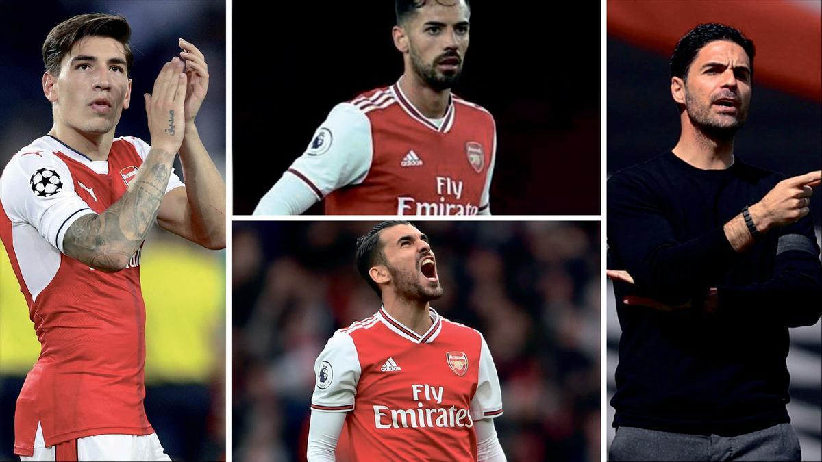 El Arsenal tiene una columna vertebral de futbolistas españoles, así como su técnico, Mikel Arteta.