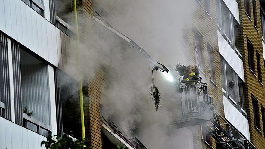 Vint ferits en una explosió a Suècia