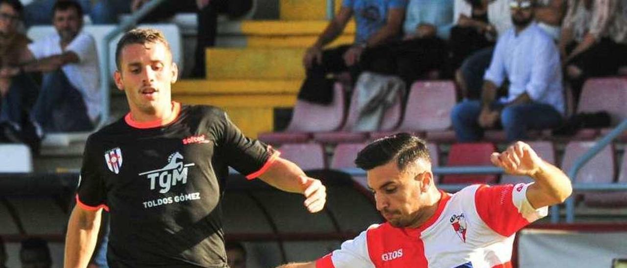 En la primera vuelta en A Lomba el triunfo se había quedado en Vilagarcía (2-1). // I. Abella