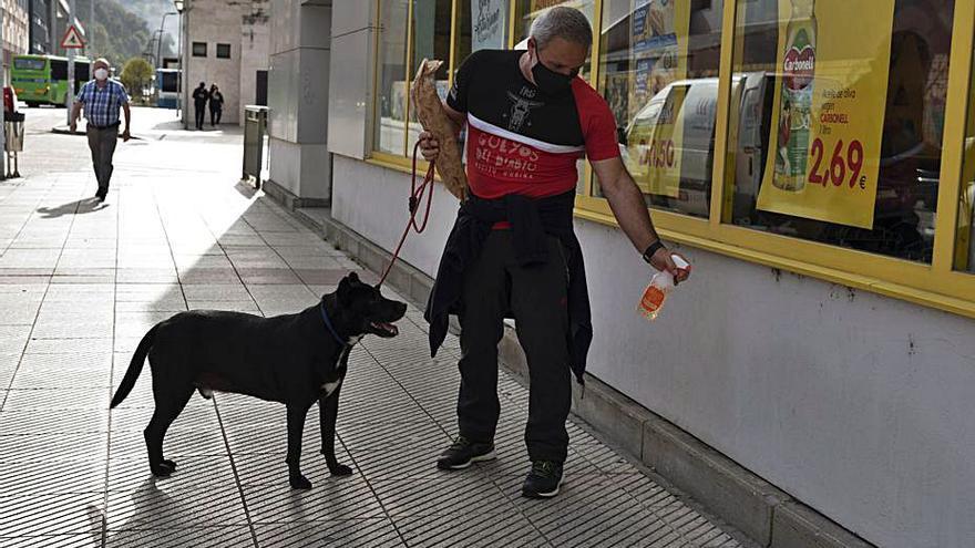 El PSOE denuncia vertidos tóxicos en Mieres para evitar el orín de perros