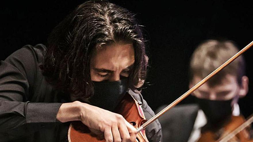 Enrique Palomares, durante el concierto. | P.M.