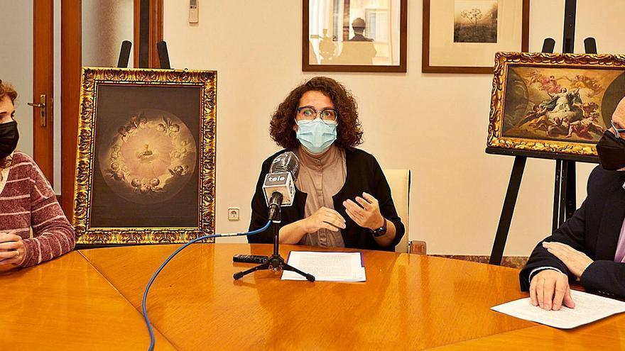 Dos cuadros de Vicent Castelló de la iglesia del Beato se suman a la campaña Gandia Restaura