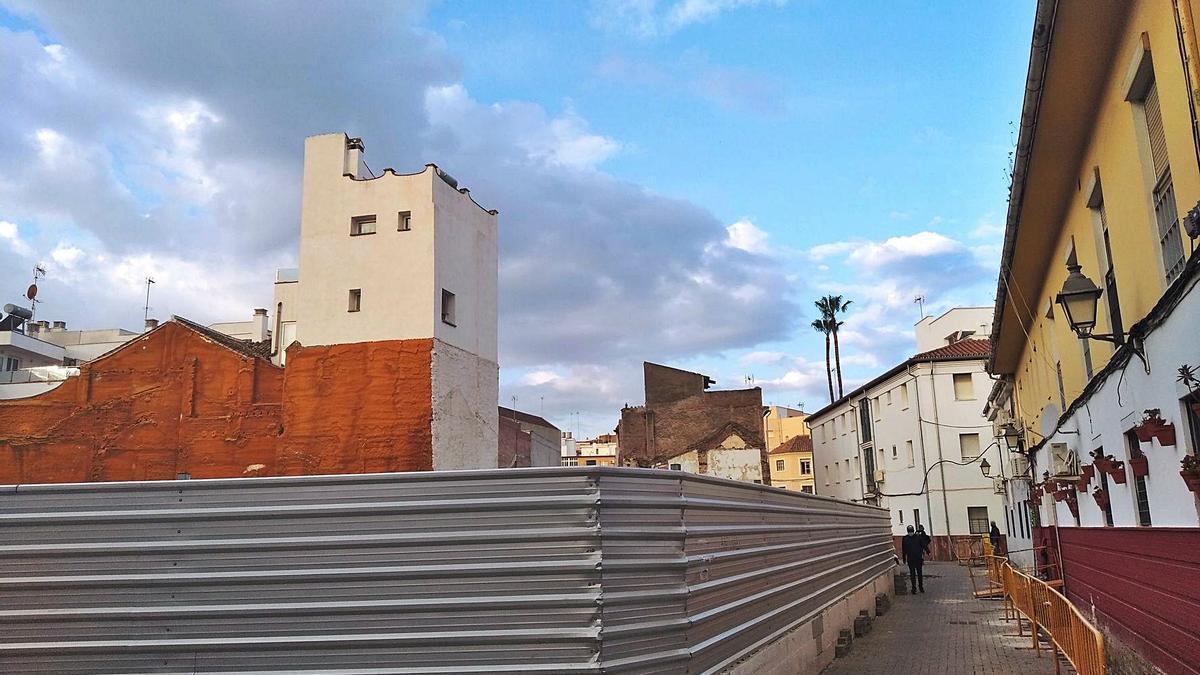 Vista desde la calle Agustín Parejo, en El Perchel.