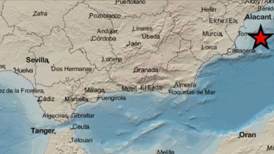 Un terremoto de 3,6 grados frente a la costa de Cabo de Palos se siente en varias localidades de Alicante
