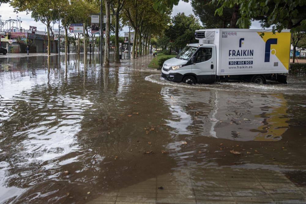 Inundacions a Platja d'Aro