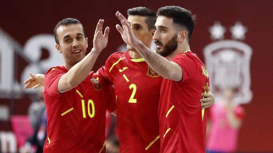 España, a la Eurocopa de fútbol sala en un minuto