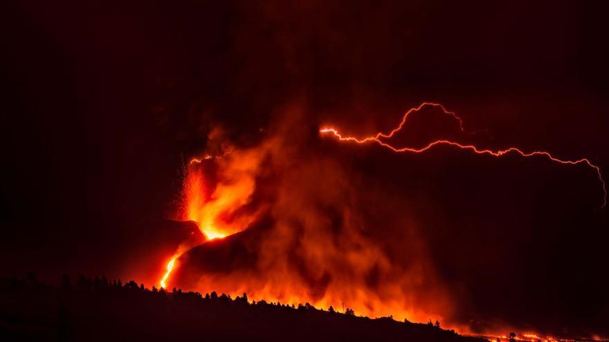 El espectáculo del volcán de La Palma