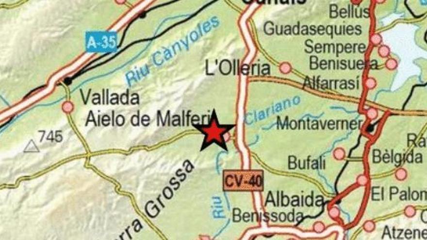 Tres terremotos en la provincia de Valencia en las últimas 12 horas