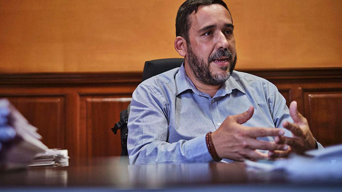 Rubens Asacanio, concejal de Bienestar Social.     ANDRÉS GUTIÉRREZ